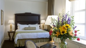 The beds at the Ashton Hotel are beautiful as well as comfortable.