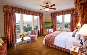 The Melrose Hotel rooms are beautiful and the beds comfortable.