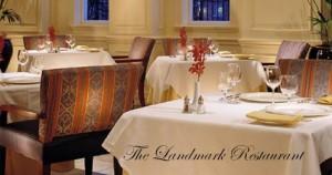 Dining at The Landmark restaurant in the Melrose Hotel.