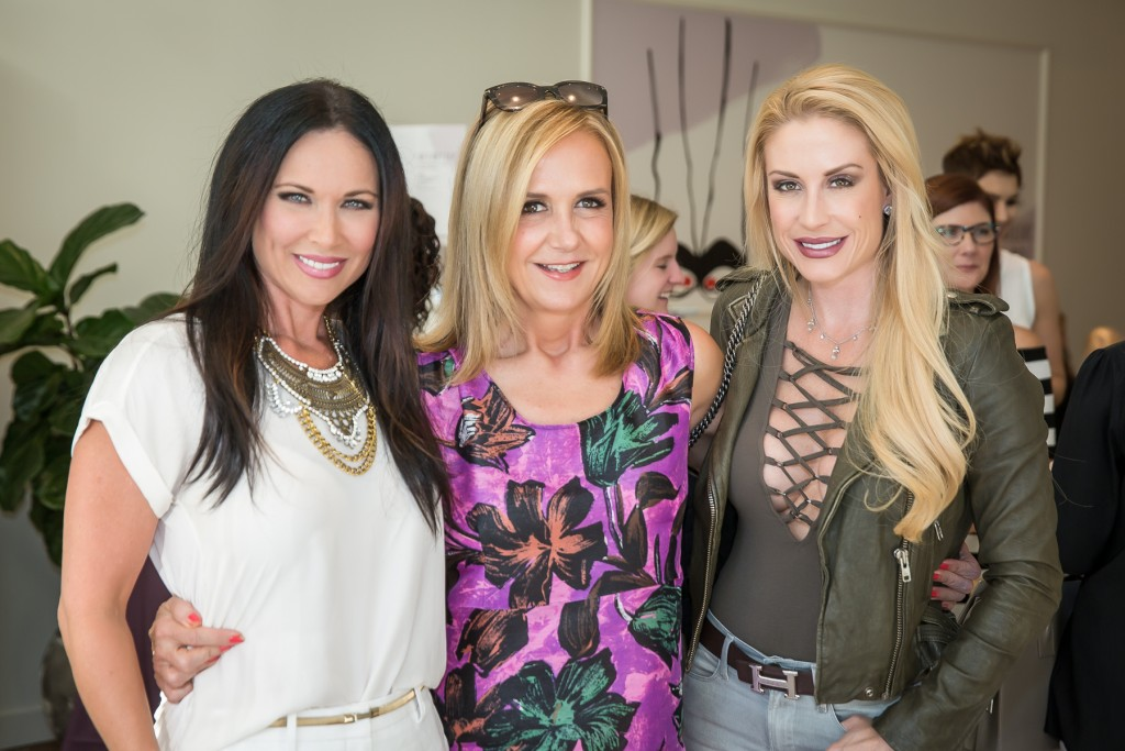 Jane with Real Housewives of Dallas star, LeeAnne Locken, and Gina Ginsburg