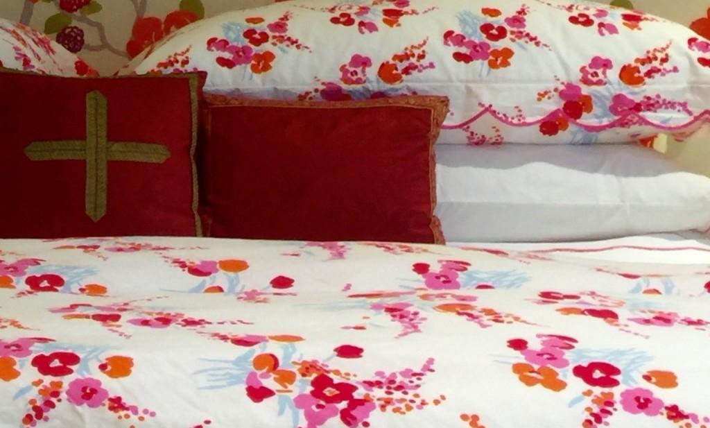 D. Porthault bed linens